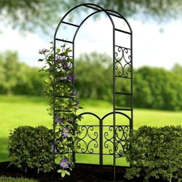 Panacea 174 84326 90 Quot Scroll Arbor W Gate Blk