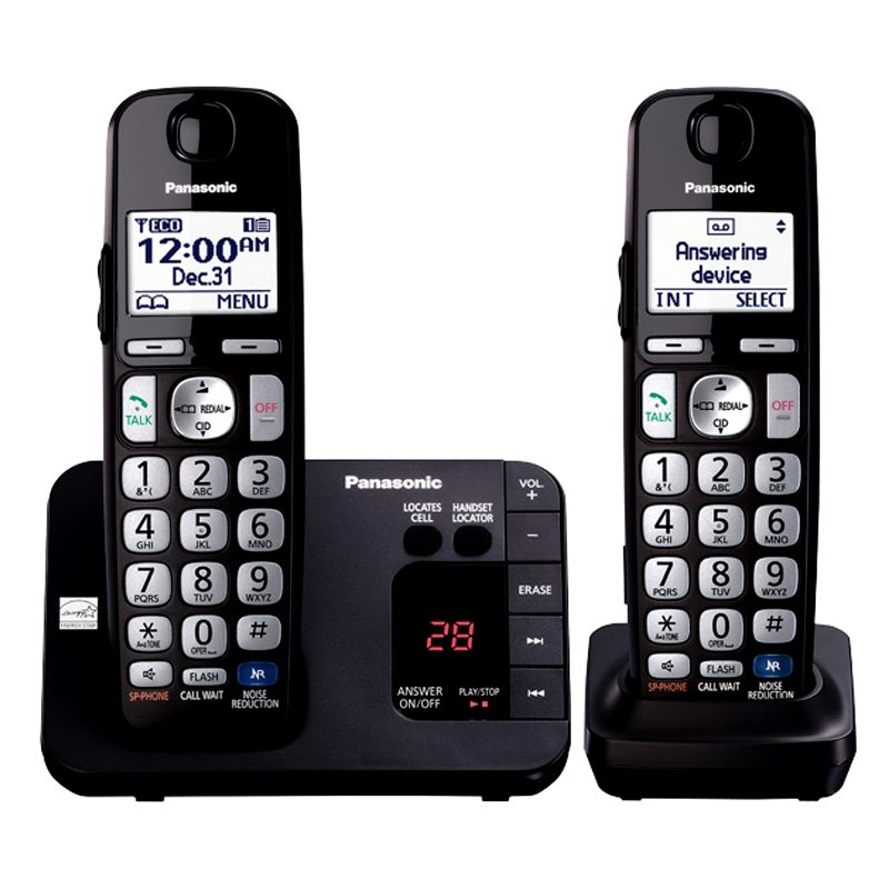 panasonic kxtge232b duo cordless phone. Black Bedroom Furniture Sets. Home Design Ideas