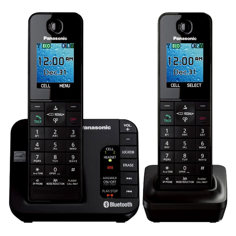 panasonic kxtgh262b duo cordless phone. Black Bedroom Furniture Sets. Home Design Ideas