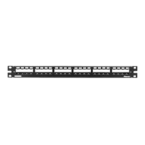 panduit 174 cp24wslgy 24 port all metal modular patch panel with strain relief bar