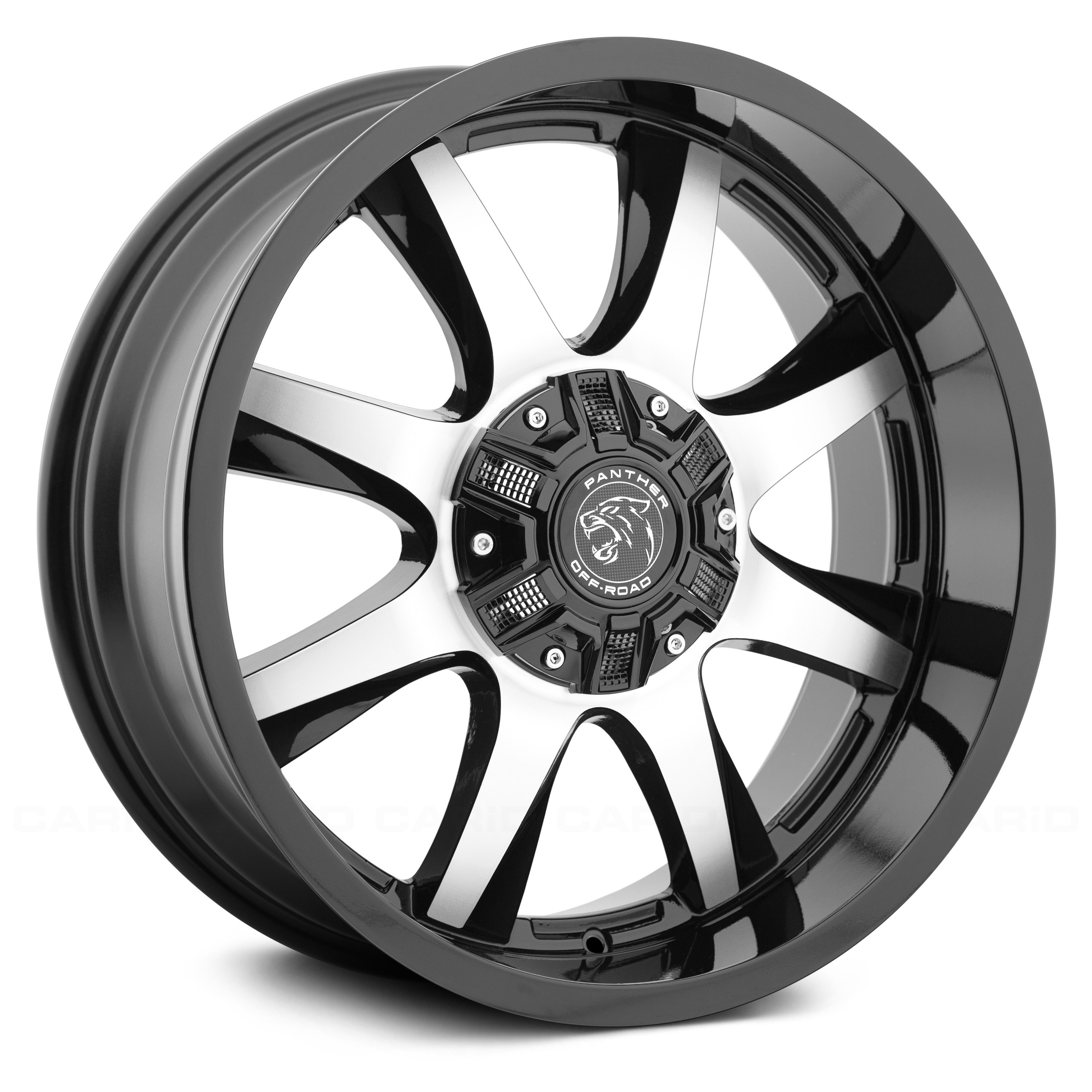 PANTHER OFFROAD® - 578 Gloss Black with Machined Face