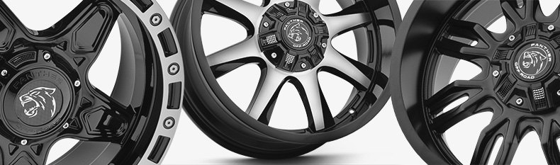 Panther Off Road 579 Wheels Gloss Black with Machined Face 579890267-12GBM