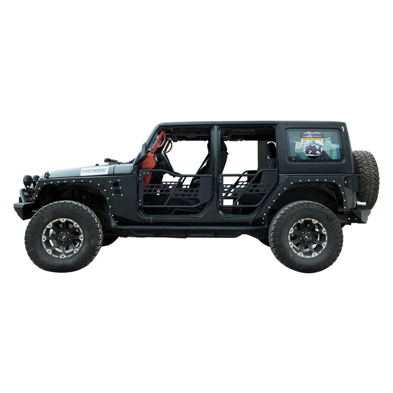 ... Off Road™ Black Steel Tubular Safari Doors with ...  sc 1 st  CARiD.com & Paramount® 51-0355 - Off Road™ Black Tubular Safari Doors with Mirrors