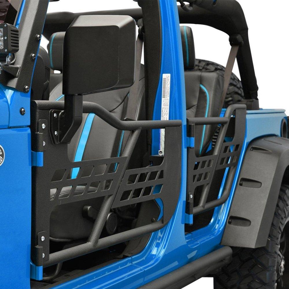 paramount® 51-0355 - off road™ black steel tubular safari doors