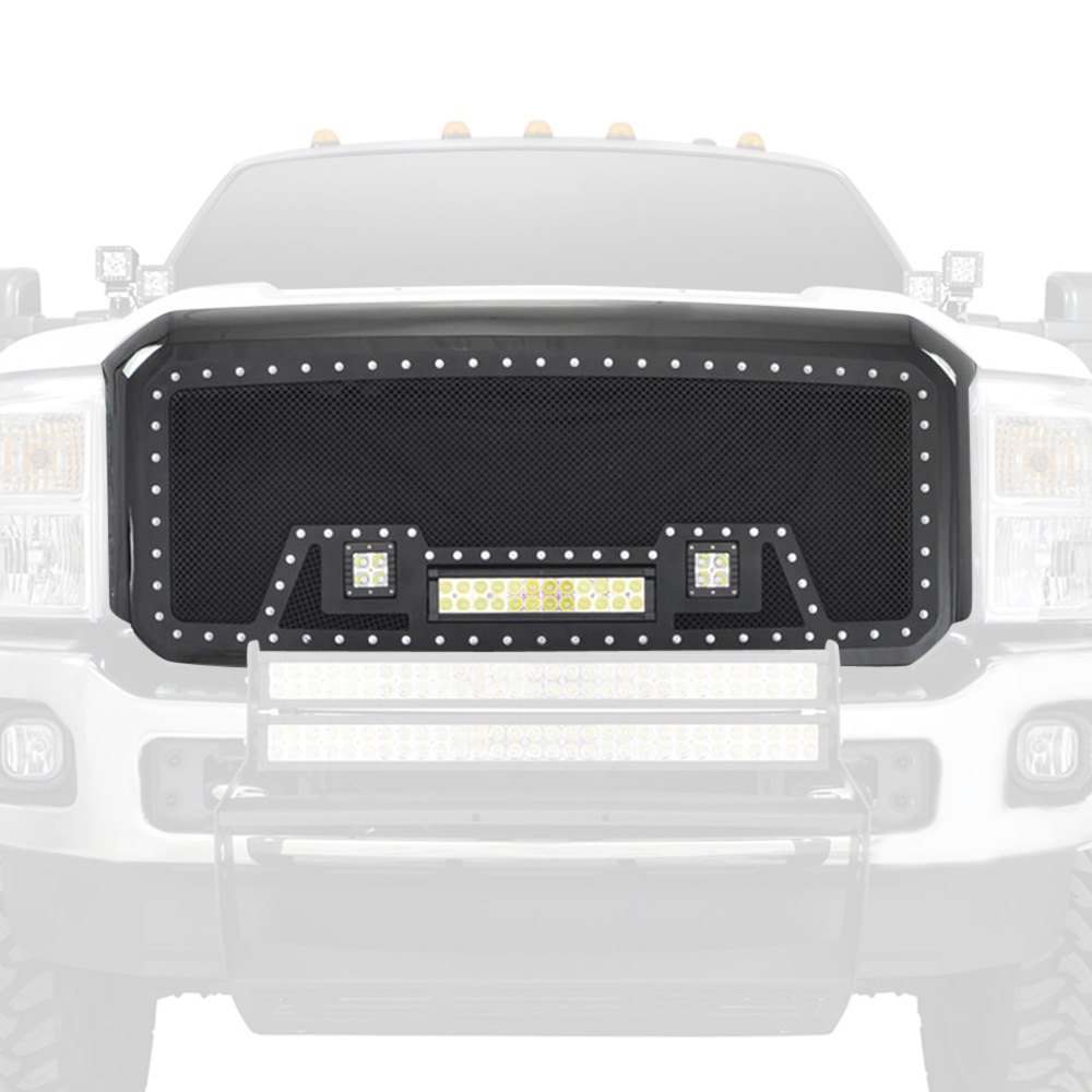 Paramount® 48-0825 - LED Evolution Black Packaged Wire Mesh Main Grille