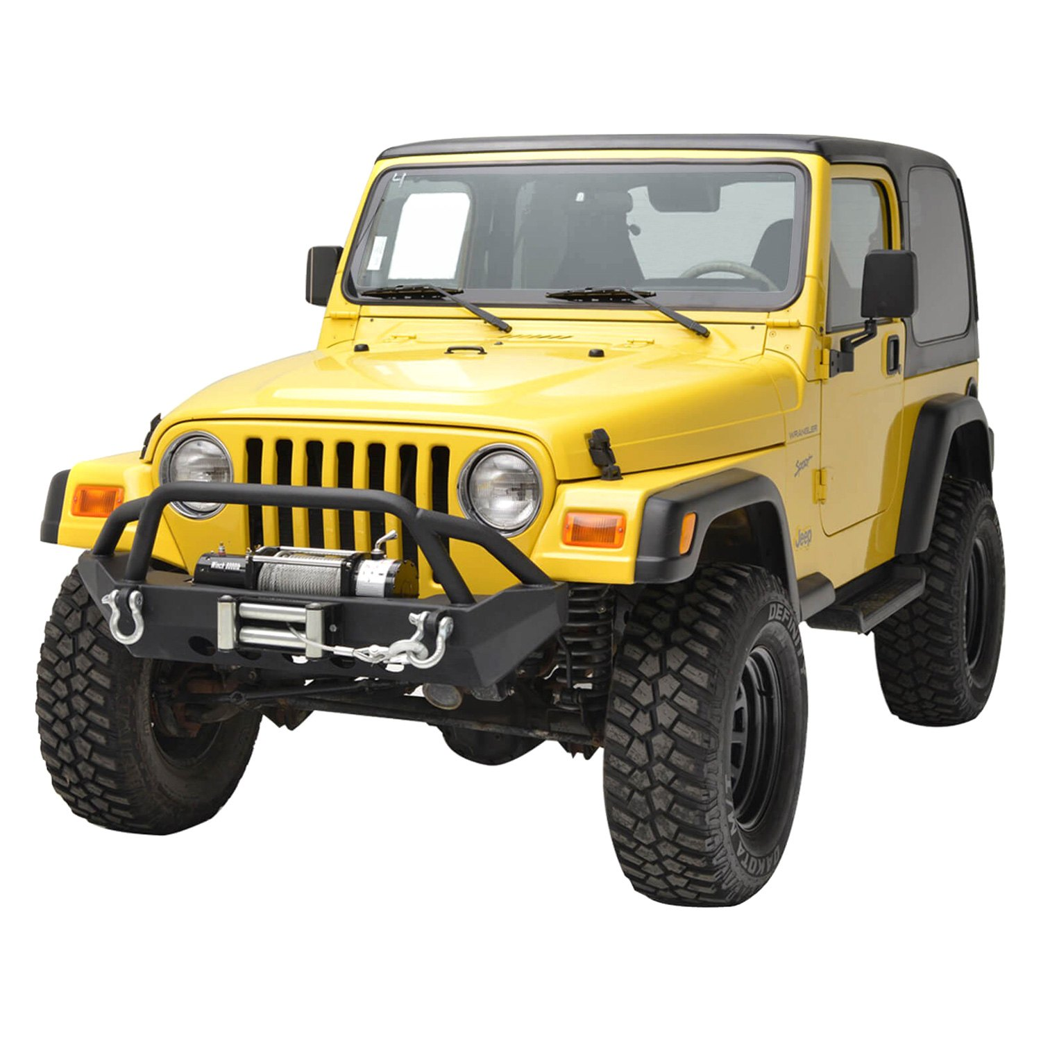 paramount jeep wrangler 1997 2006 off road r2 mid width black front winch hd bumper with. Black Bedroom Furniture Sets. Home Design Ideas