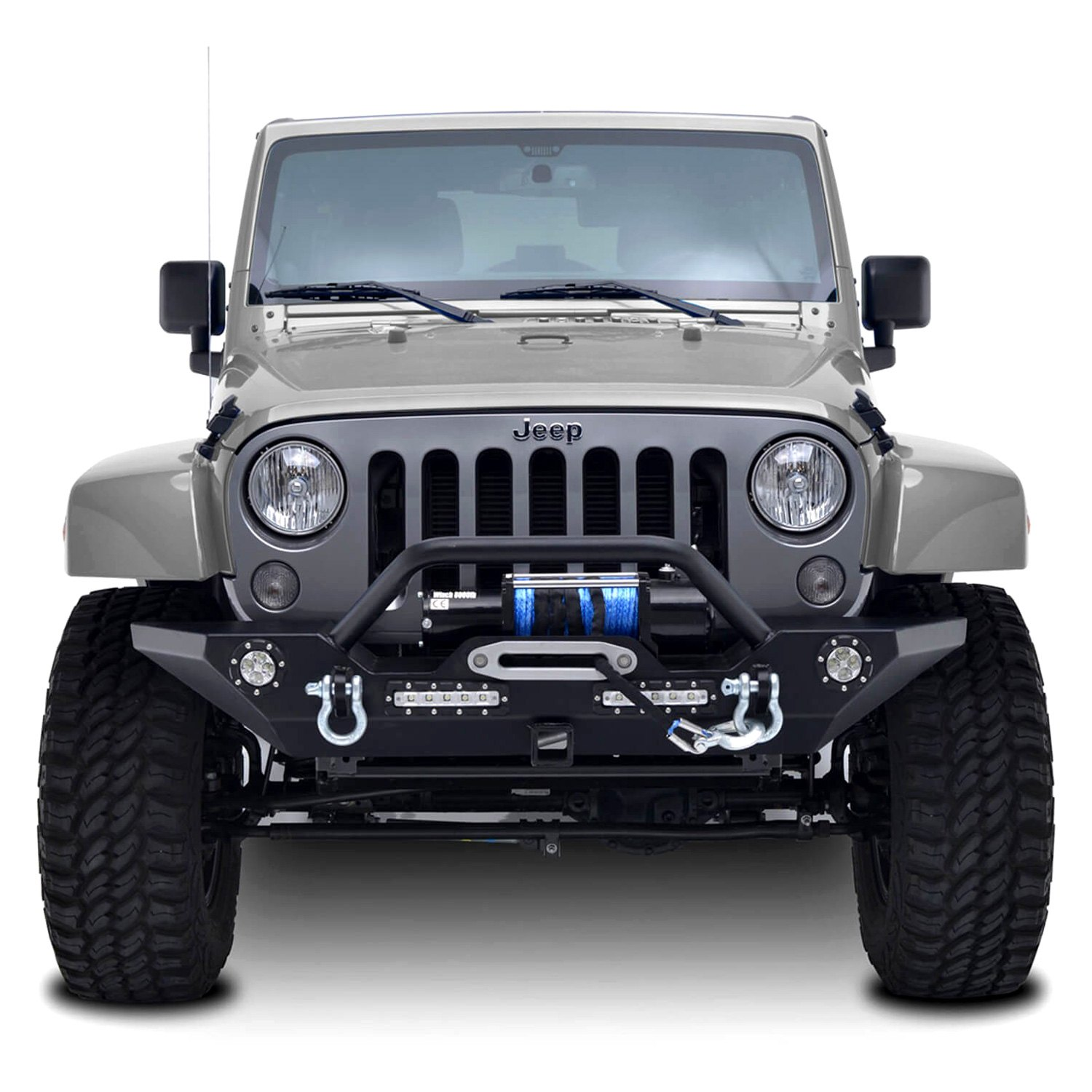 paramount jeep wrangler 2007 off road rock crawler full width black front winch hd bumper. Black Bedroom Furniture Sets. Home Design Ideas