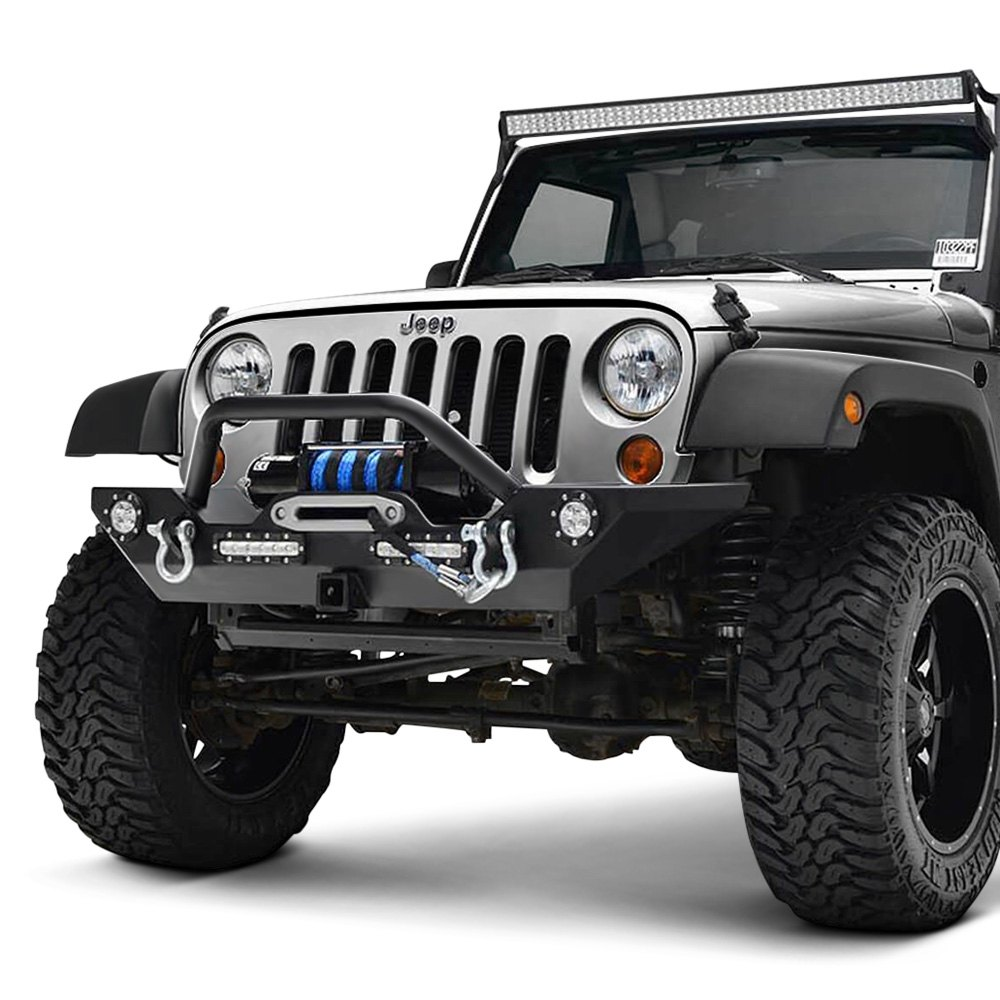 paramount jeep wrangler 2011 off road rock crawler full width black front winch hd bumper. Black Bedroom Furniture Sets. Home Design Ideas