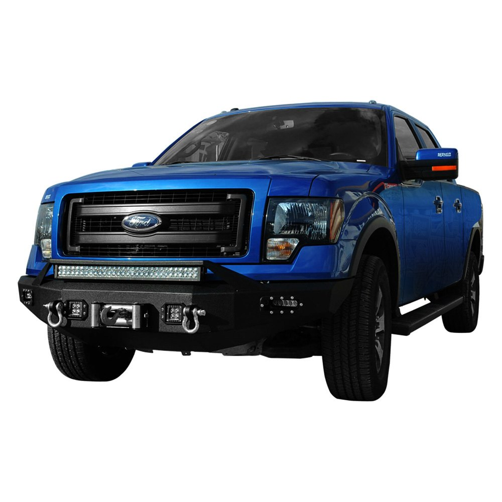 Paramount Ford F 150 2011 Full Width Black Front Winch Hd Bumper