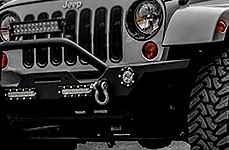 Paramount® - Heavy Duty Rock Crawler Front Bumper With LED Light Bar