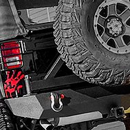 Paramount® - Off Road™ Rear Bumper on Jeep Wrangler