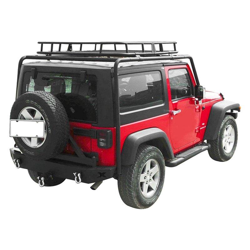 Jeep Wrangler Luggage Rack: For Jeep Wrangler 2007-2018 Paramount Off Road Black