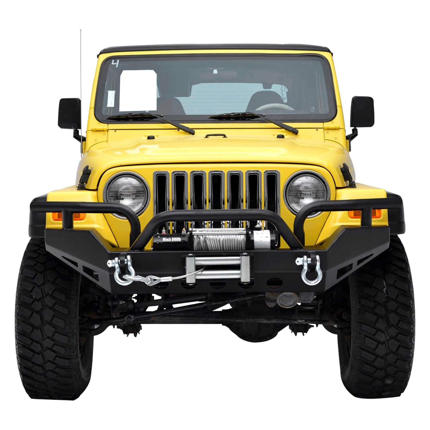 paramount jeep wrangler 2006 off road xtreme full width black front winch hd bumper. Black Bedroom Furniture Sets. Home Design Ideas