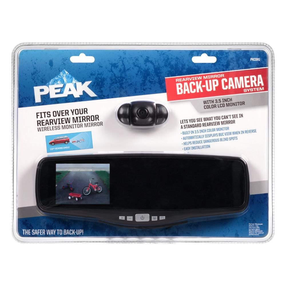 Peak® PKC1RG - Wireless Rear View Mirror with Built-in 3.5\