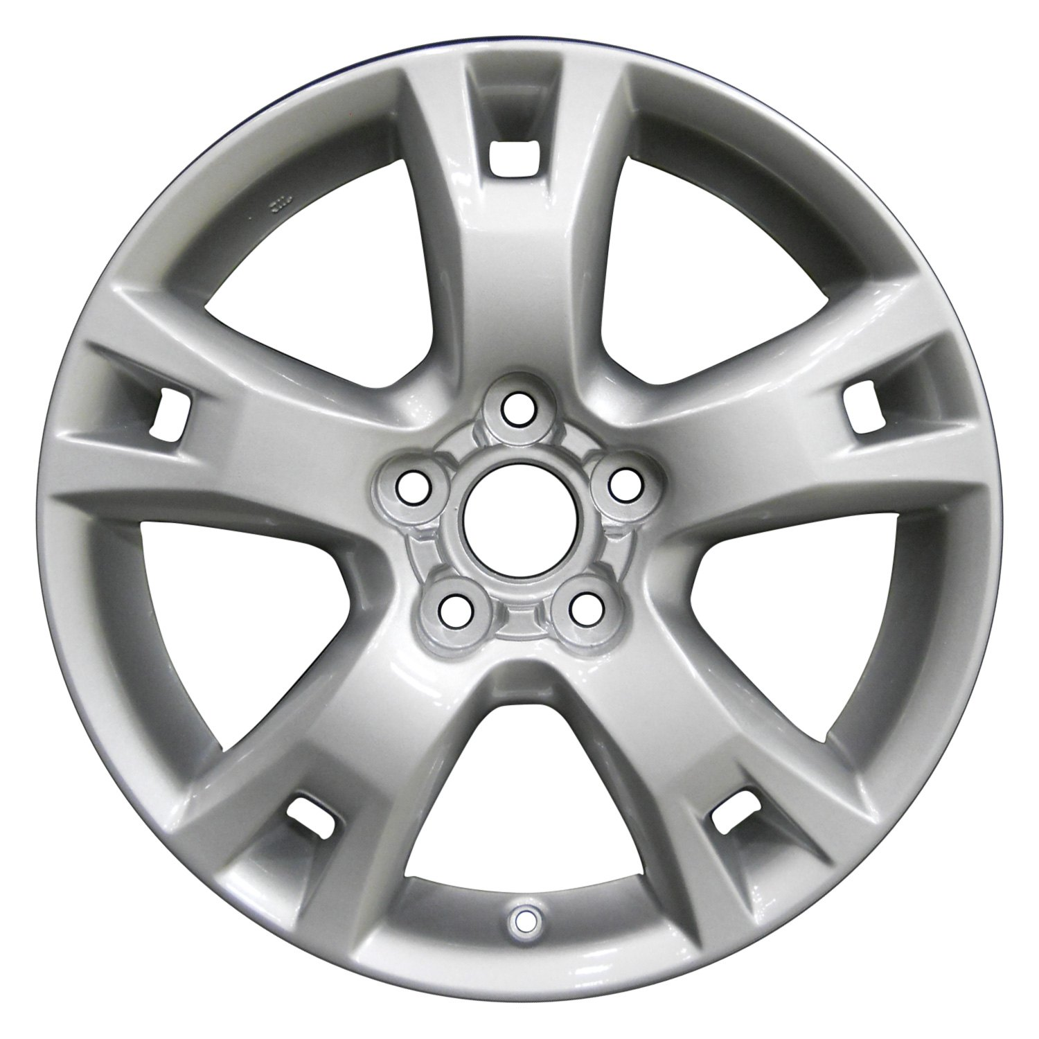 Perfection Wheel 17 X 7 5 Spoke Bright Medium Silver Full Face Alloy
