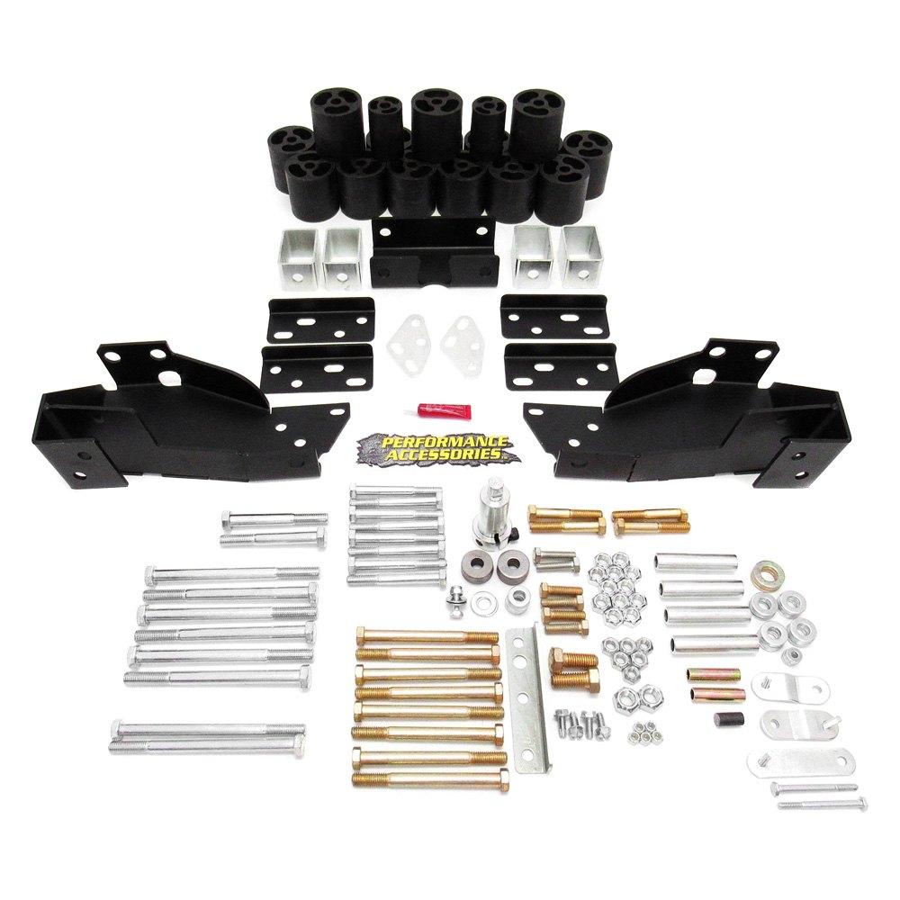 Performance Accessories Gmc Sierra 2011 Body Lift Kit