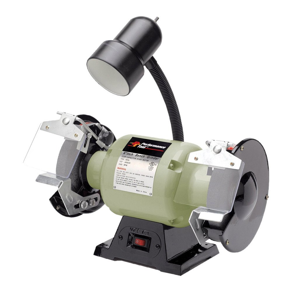 Performance Tool W50001 6 Bench Grinder With Work Light