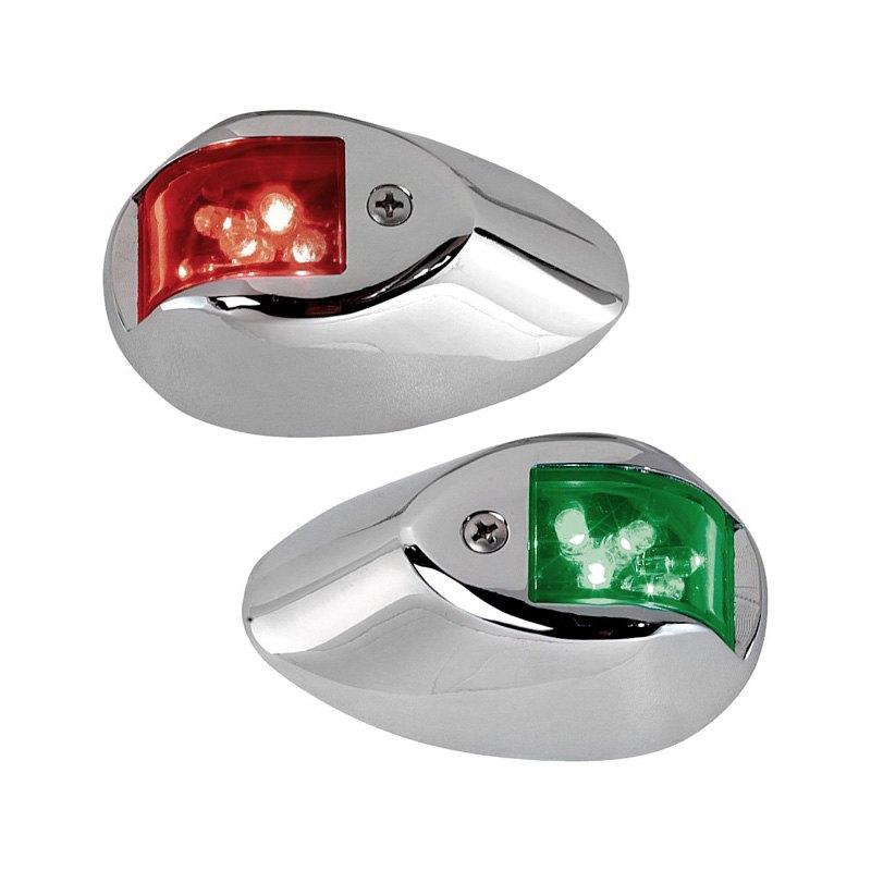 perko 0602dp1chr led side lights 12v red green with chrome housing. Black Bedroom Furniture Sets. Home Design Ideas