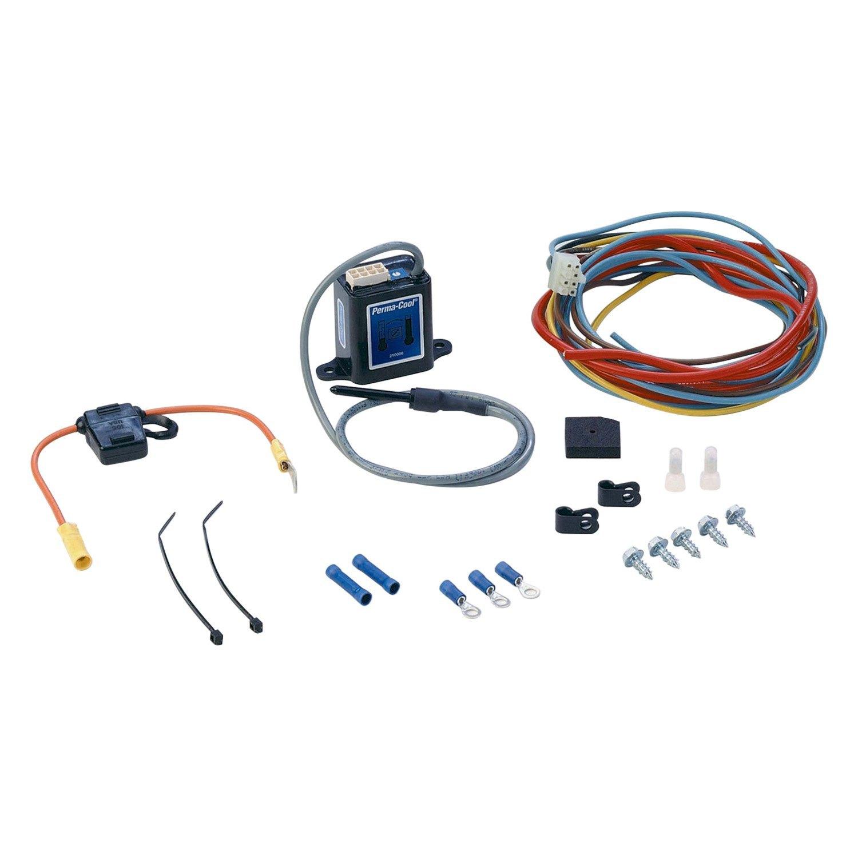 perma cool 18905 probe style adjustable electric fan wiring kit rh carid com Electric Cooling Fan Kit Dual Electric Fan Kit