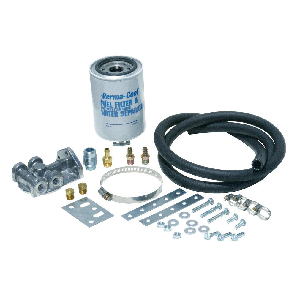 Perma cool 81074 fuel filter and water separator system kit for Kit filtration
