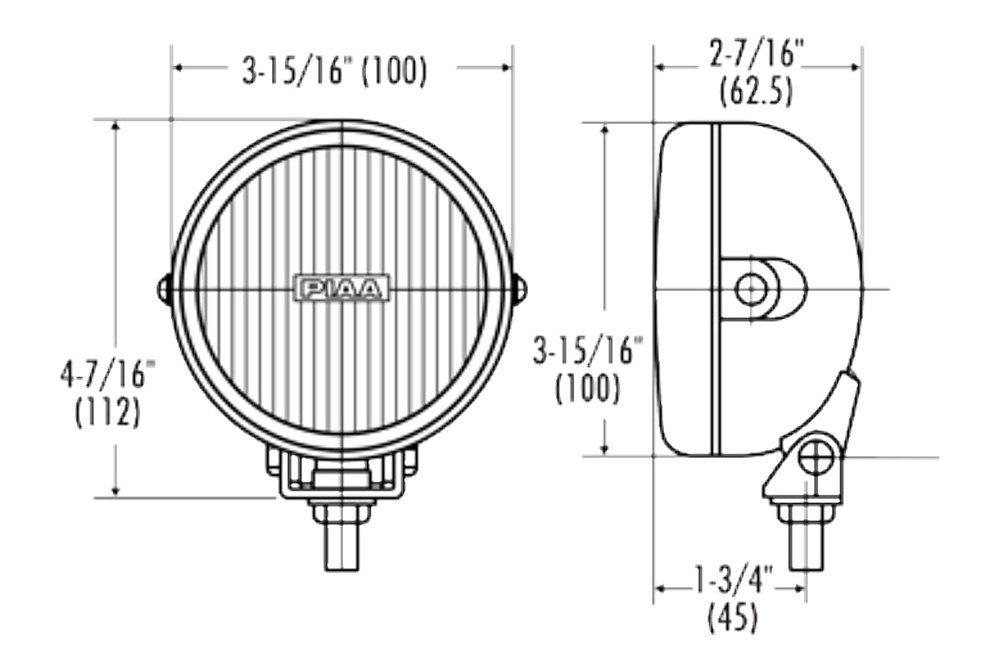 piaa 05190 510 series smr xtreme plus sae 4 2x55w round fog beam rh carid com