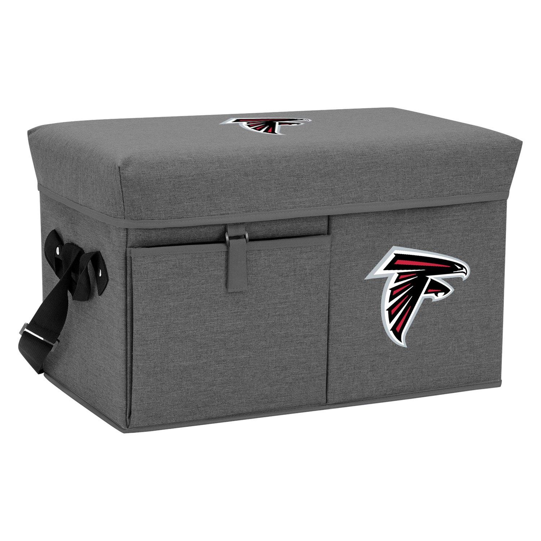 Picnic Time Ottoman NFL Atlanta Falcons 24-Can Gray Soft Coo