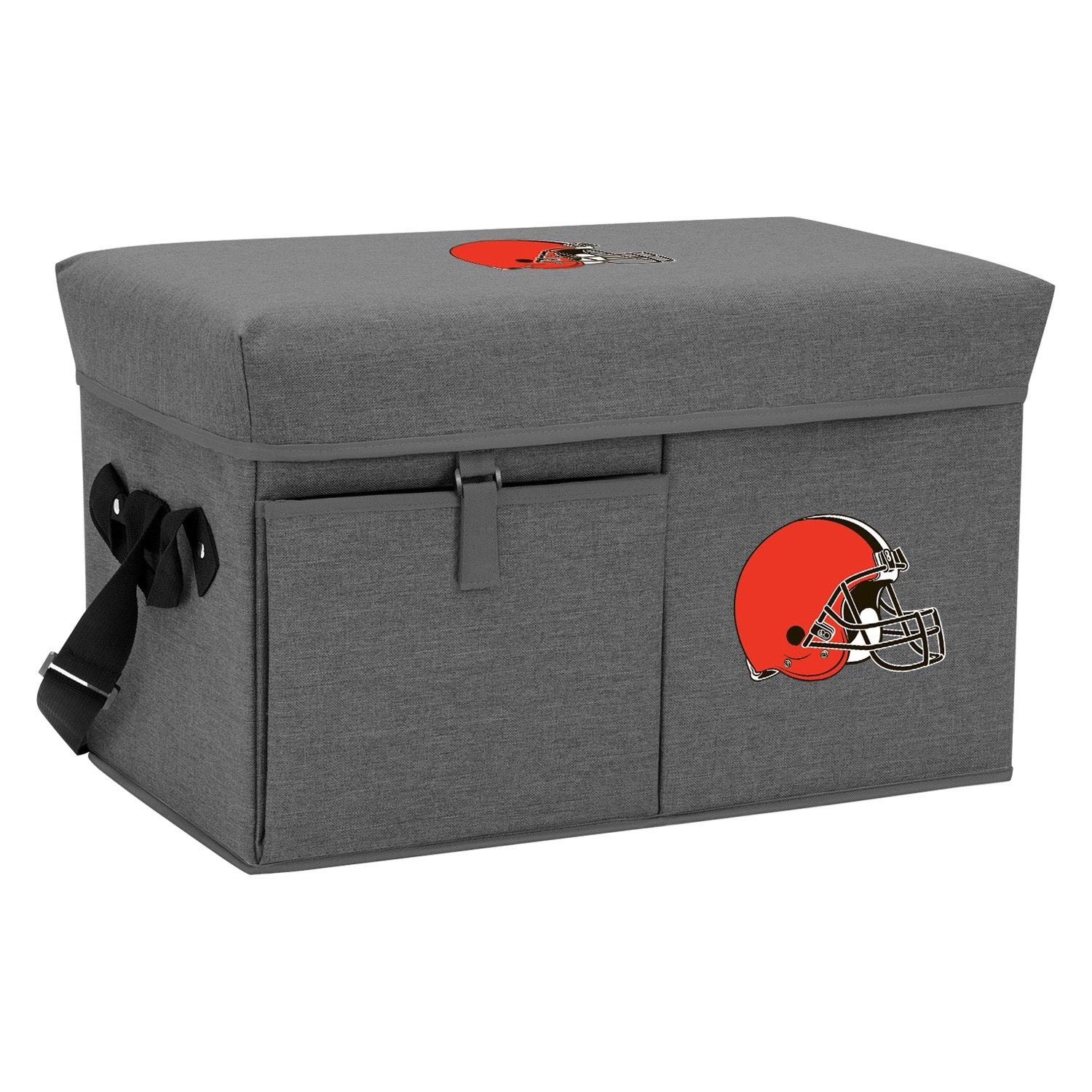 Picnic Time Ottoman NFL Cleveland Browns 24-Can Gray Soft Co