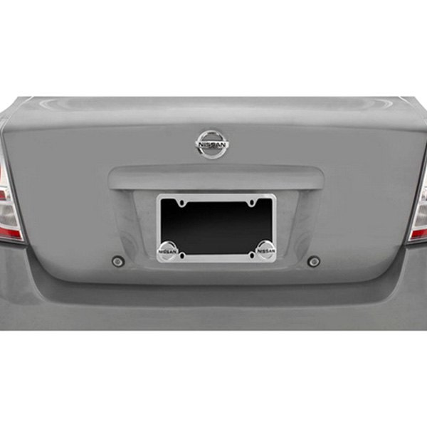 pilot license plate frame with nissan logo