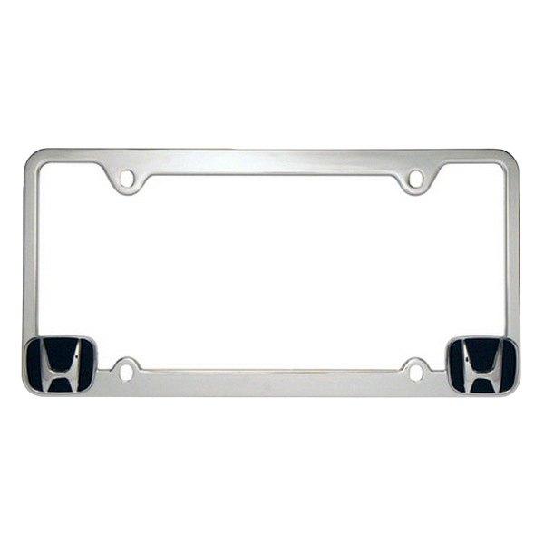 Honda Accord License Plate Frame: Honda Logo On Chrome License Plate Frame
