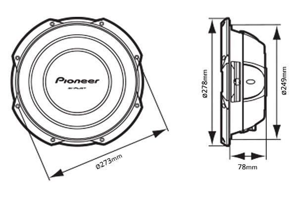 pioneer u00ae tssw2502s4