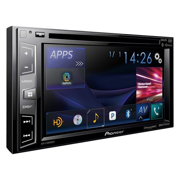 pioneer double din dvd cd am fm mp3 wma flac aac mp4 avi receiver with 6 2 touchscreen. Black Bedroom Furniture Sets. Home Design Ideas