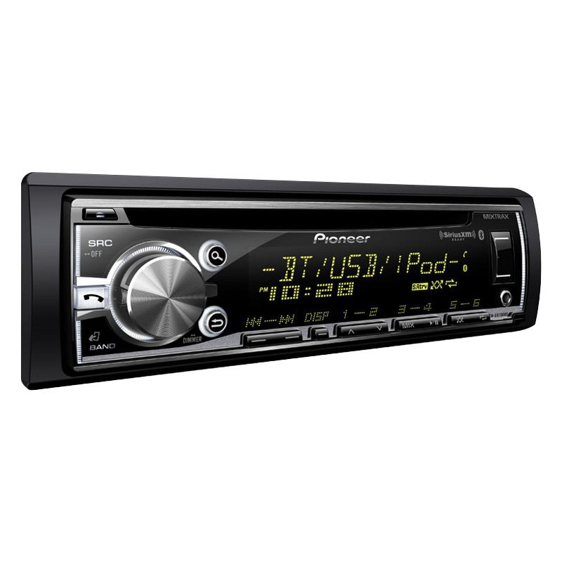 pioneer 174 single din cd am fm mp3 wma receiver with built in bluetooth mixtrax siri free