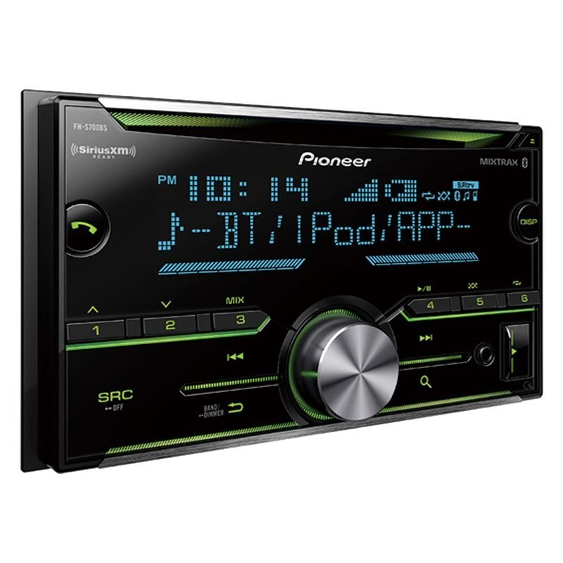 pioneer fhs700bs double din cd am fm mp3 wma aac flac receiver with built in bluetooth. Black Bedroom Furniture Sets. Home Design Ideas