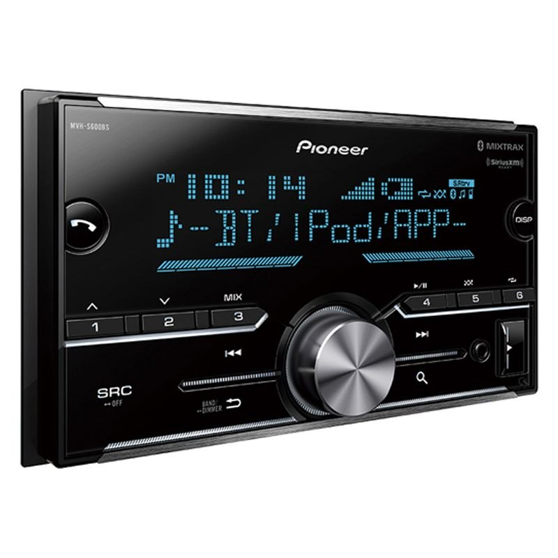 pioneer mvhs600bs double din am fm mp3 wma aac flac digital media receiver with built in. Black Bedroom Furniture Sets. Home Design Ideas