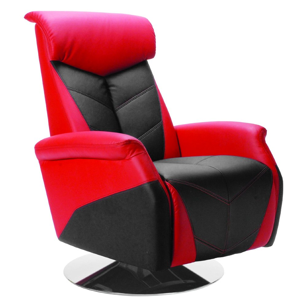 Pitstop Furniture 174 Rrc1000r Racing Style Red Recliner Chair