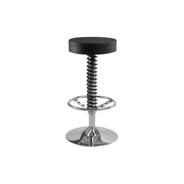 Pitstop Furniture 174 Pc1400b Pit Crew Black Bar Stool
