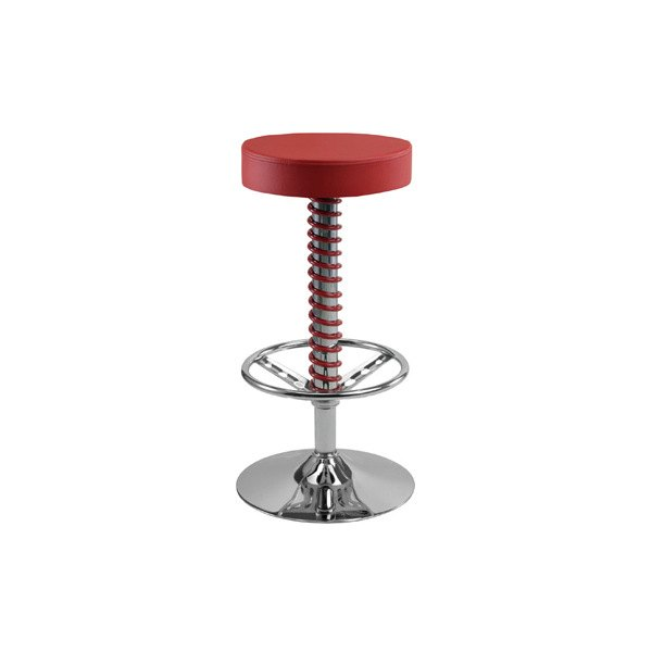Pitstop Furniture 174 Pc1400r Pit Crew Red Bar Stool