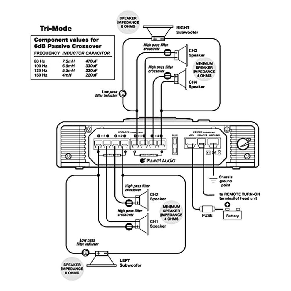 series parallel speaker wiring diagram with 4 Channel   To 2 Subs Wiring Diagram on 1000w Power Audio  lifier furthermore Wiring Diagram For Series furthermore 1 Ohm Speaker Wiring Diagram likewise Onkyo Speaker Wiring Diagram likewise Hitch Wiring Diagram 1990 F 250.