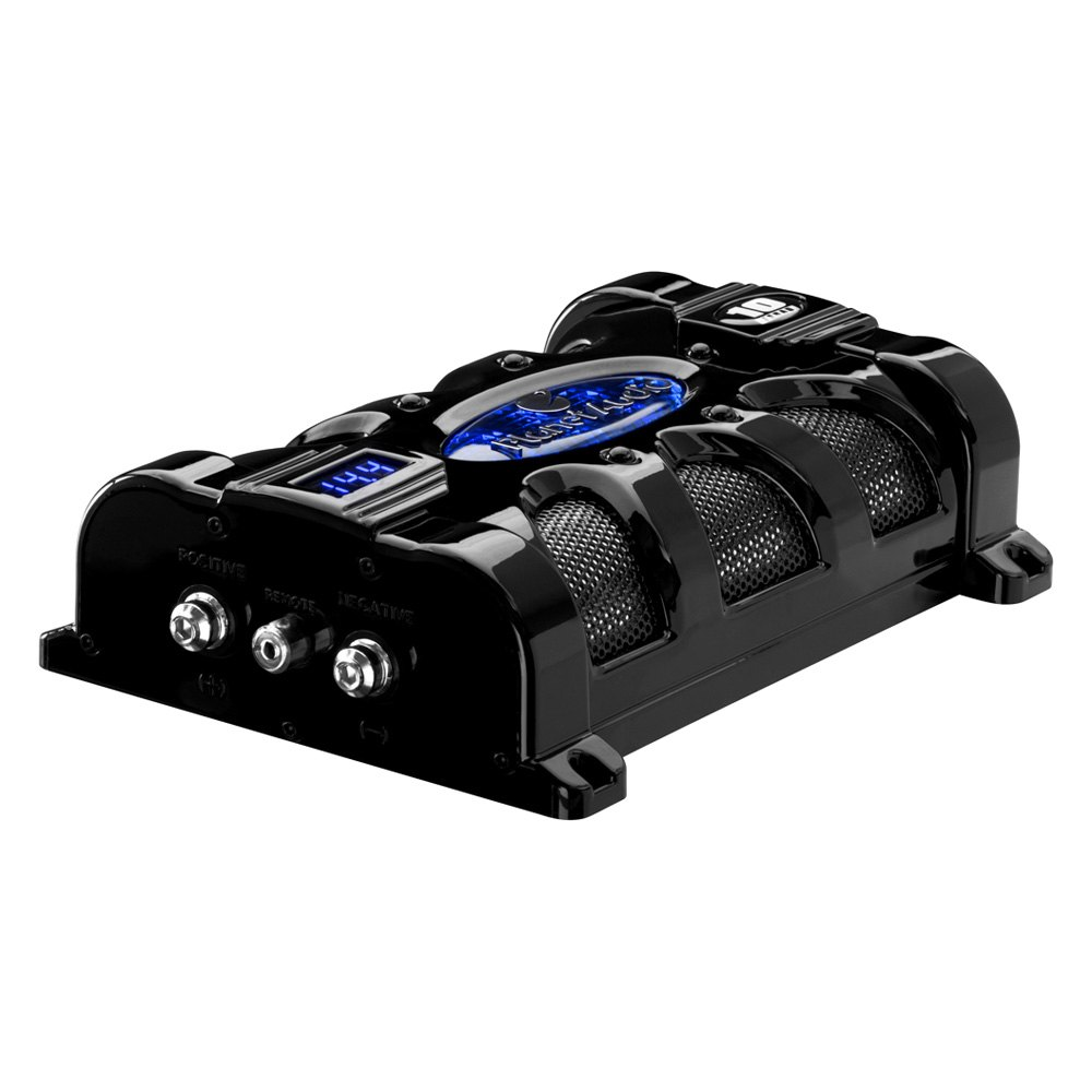 planet audio® pc10f 10 farad capacitor digital voltage display planet audio® 10 farad capacitor digital voltage display