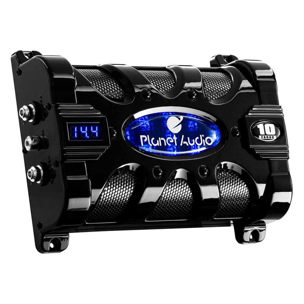 Planet Audio Capacitor Wiring Trusted Diagram Car Pc10f 10 Farad With Digital Voltage Display Rh Carid Com For Amp