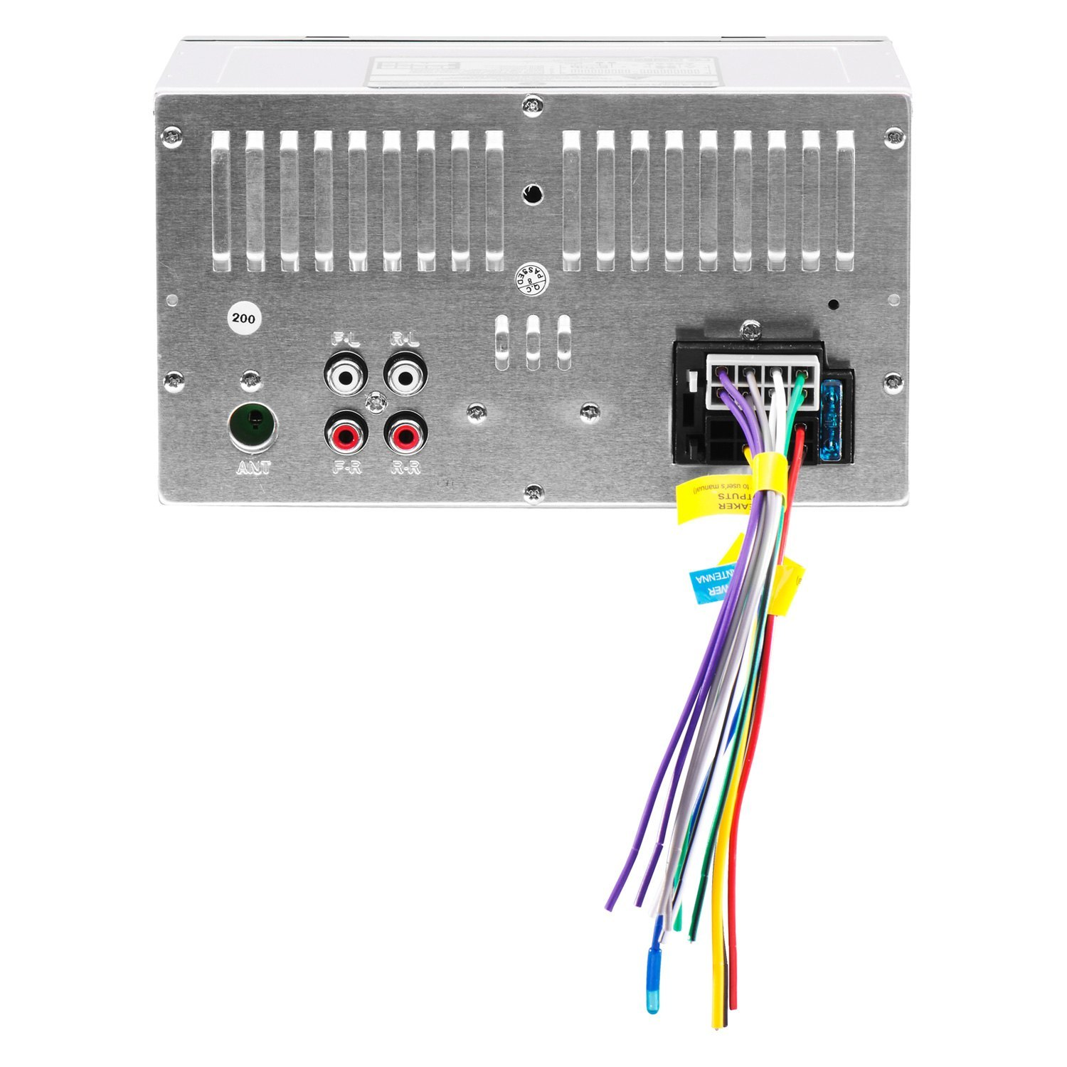 Planet Audio Pb455rgb Double Din Am Fm Mp3 Wma Digital Media Wiring Receiver With Built In Bluetooth Side Rightplanet