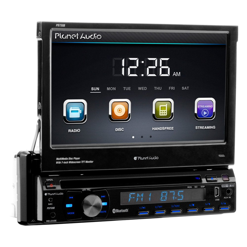 Single din car stereo with gps