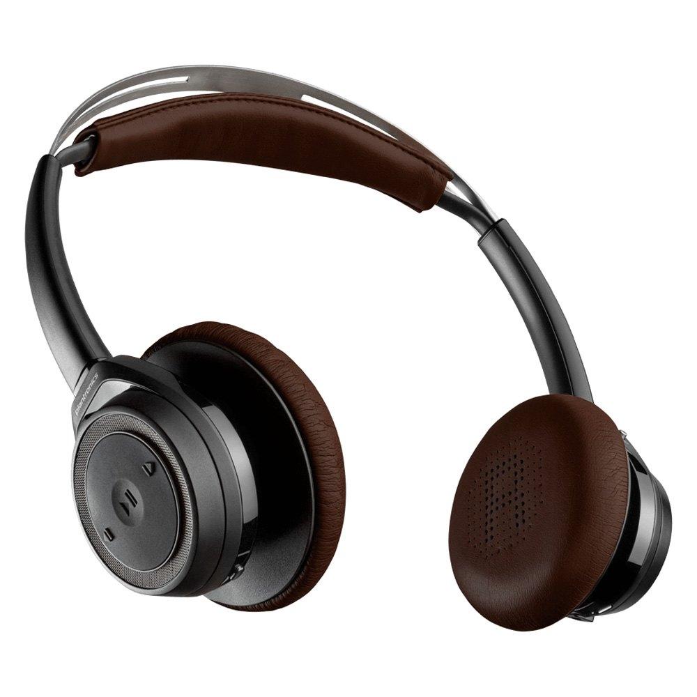 plantronics bbsensebk backbeat sense wireless headphones with microphone black. Black Bedroom Furniture Sets. Home Design Ideas