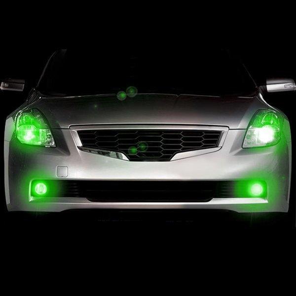 Details about PlasmaGlow 10652 Bolt-on Mount Headlight Green LED Hideaway  Strobe Light Kit