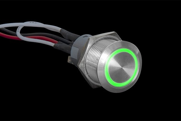 plasmaglow 174 11022 green light momentary led activator switch