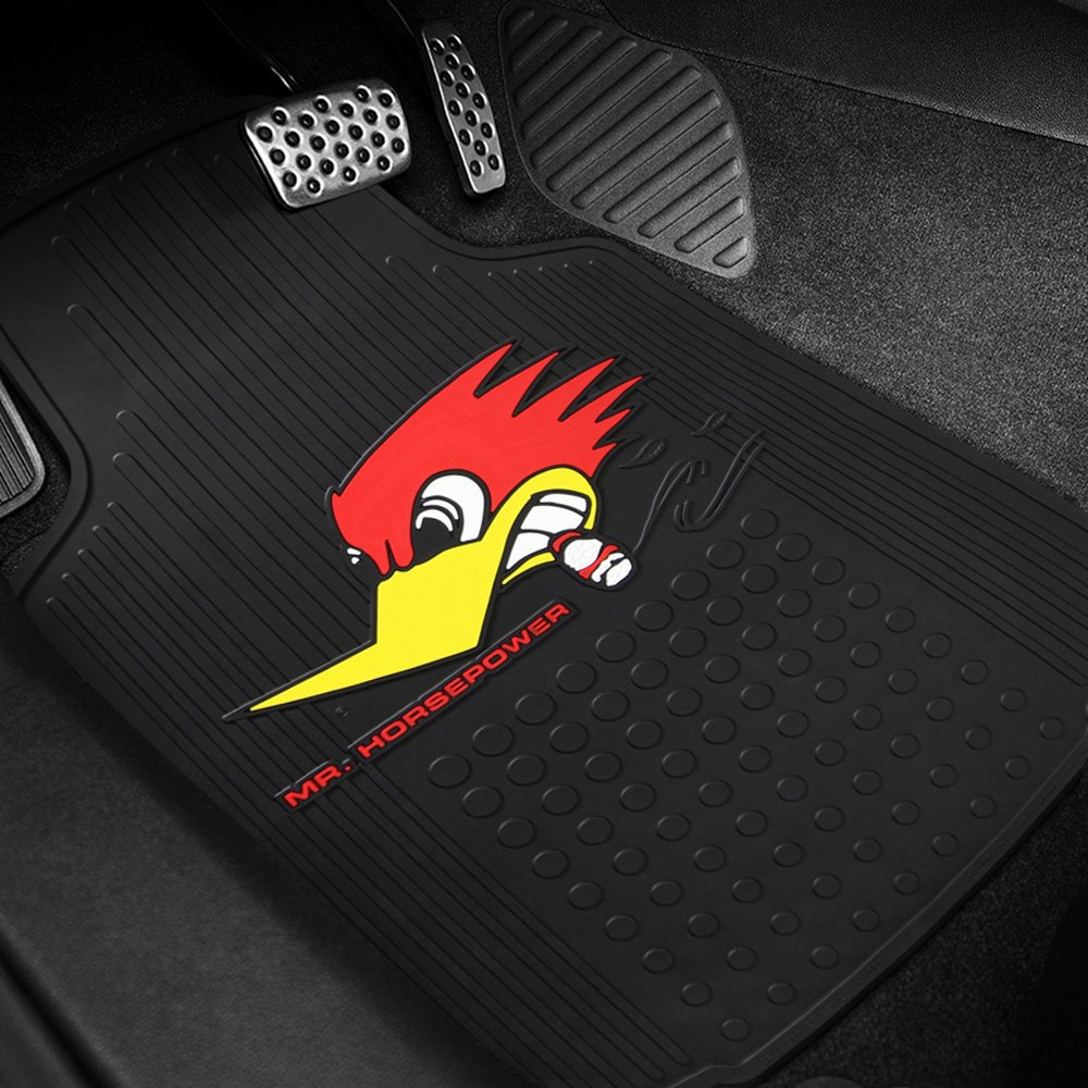New 2pcs Mr Horsepower Classic Logo Car Truck Front Rubber Floor Mats Set