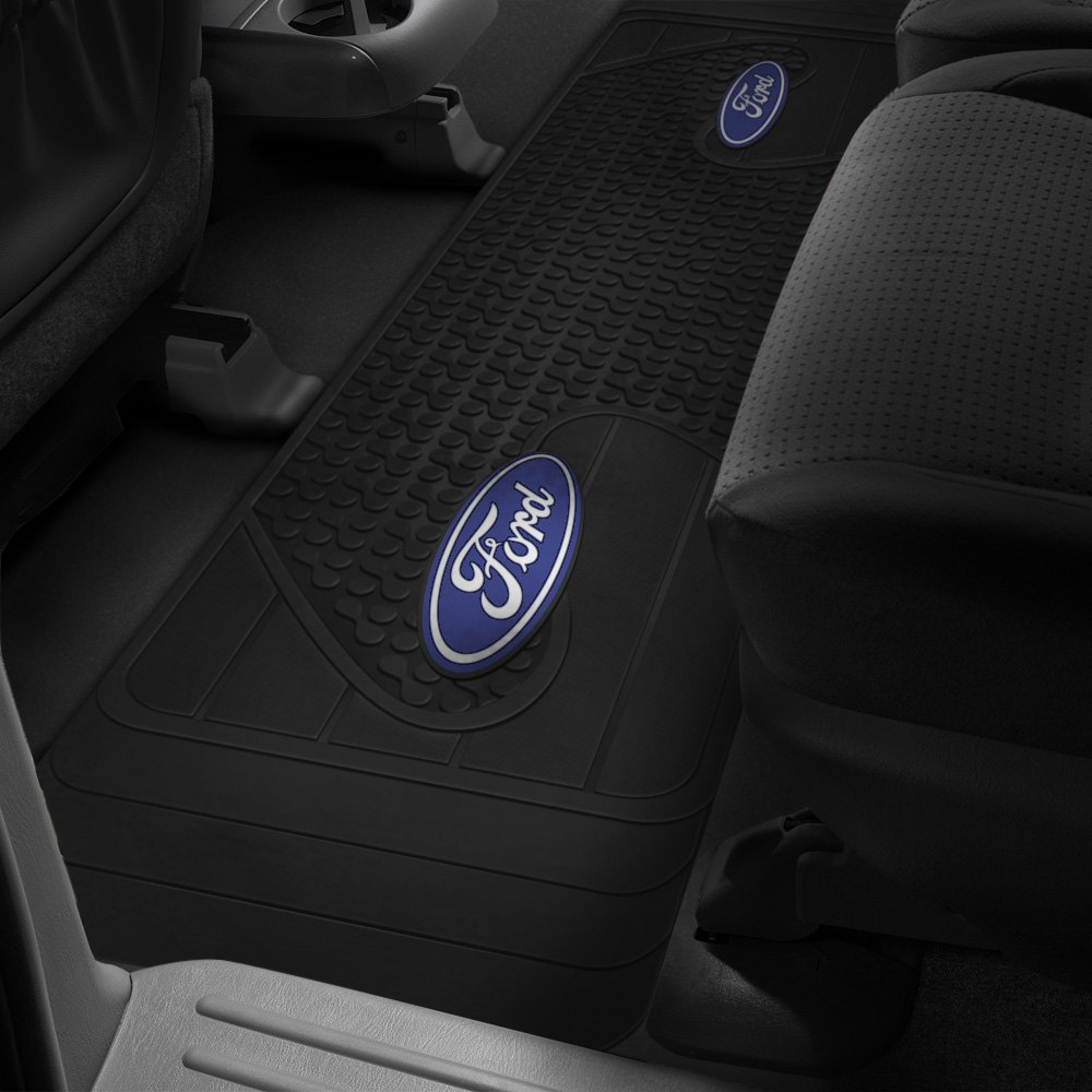 plasticolor 2nd row full coverage black rubber floor mat w. Black Bedroom Furniture Sets. Home Design Ideas