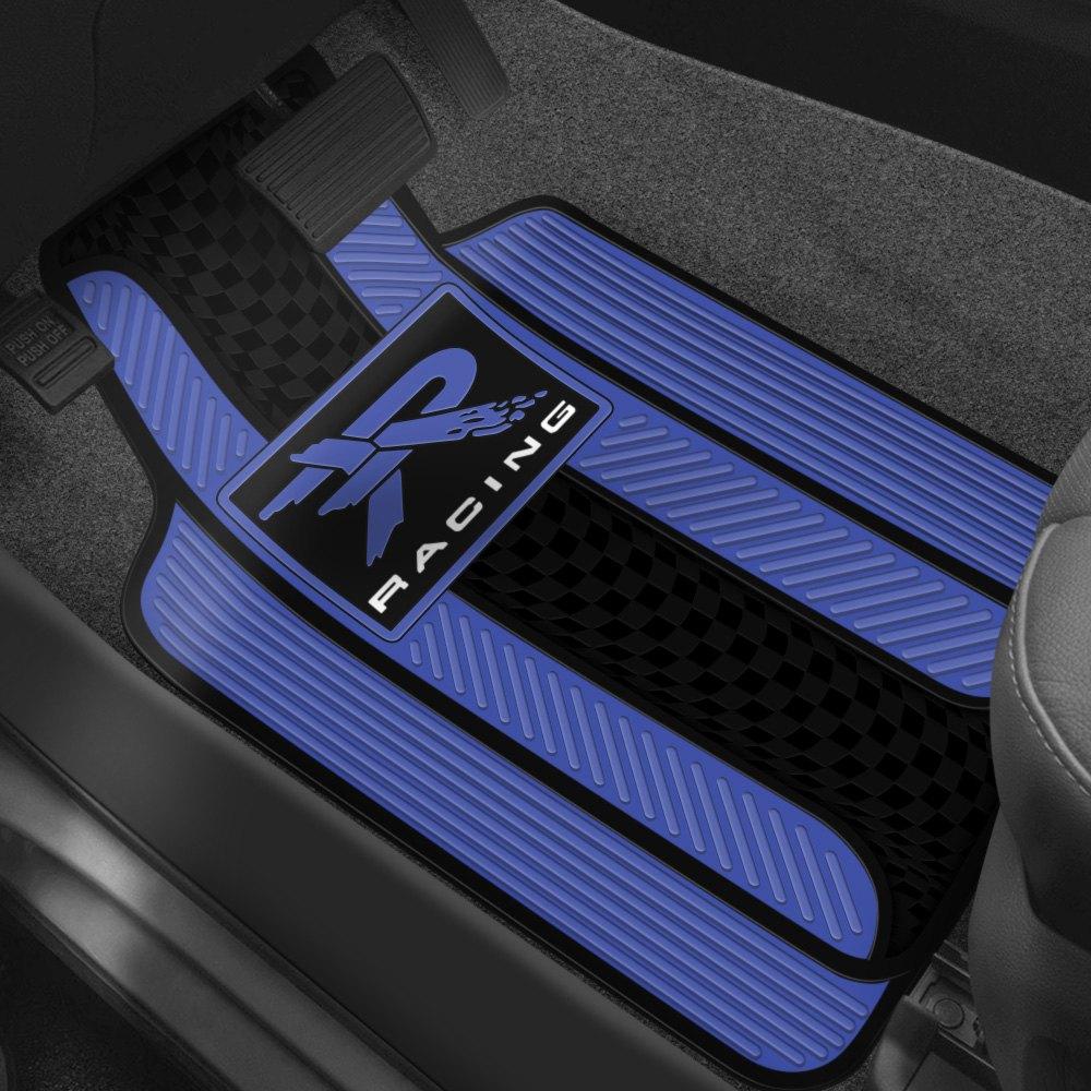 Plasticolor floor mats with racing design for Floor mat design