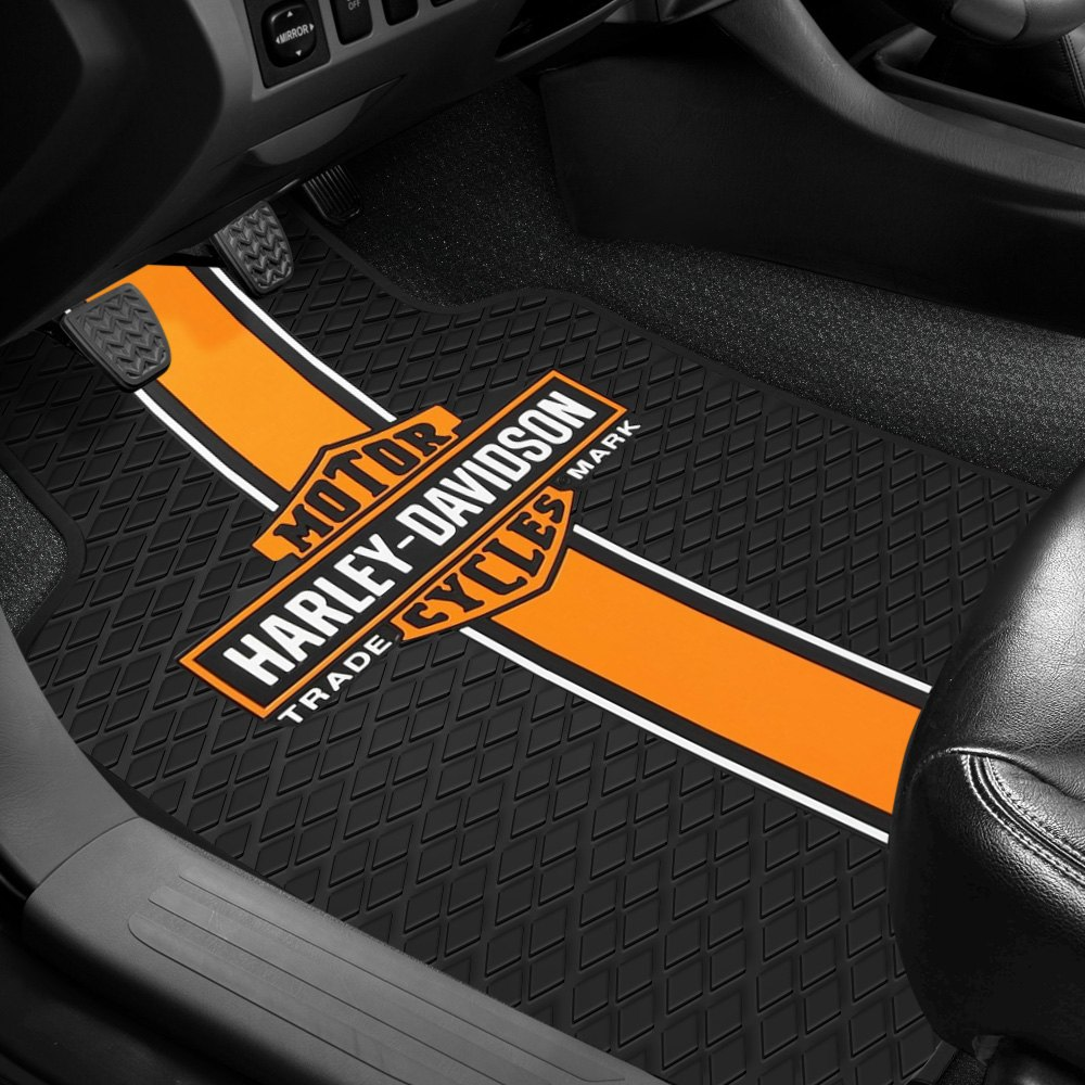 Plasticolor 174 Floor Mats With Harley Davidson Logo