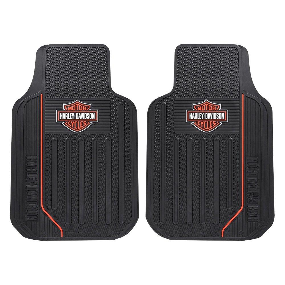 Plasticolor 001467r01 1st row black rubber floor mats with orange 1st row black rubber floor mats with orange harley davidson tyukafo